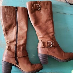 👢b.o.c. leather brown boots